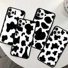 Load image into Gallery viewer, Black and White Cow iPhone 11 Pro Cases
