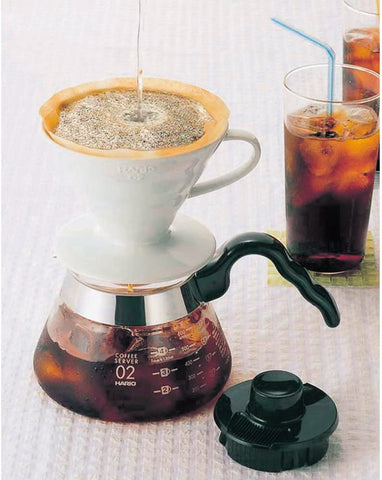 Hario V60 white pourover with filter size 02