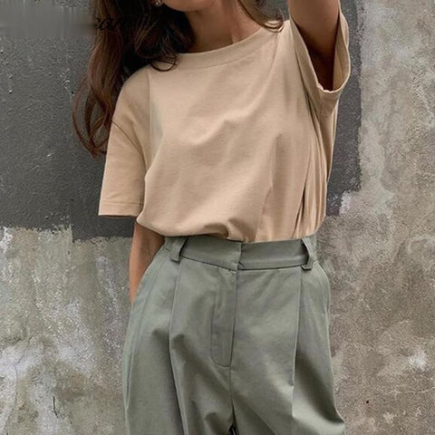Oversize basic Cotton T Shirt
