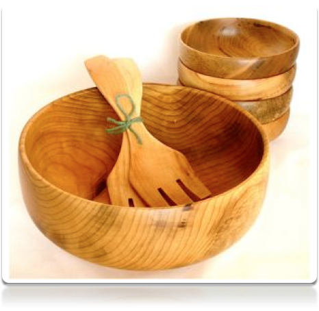 6 Piece - Myrtlewood Bowl Set