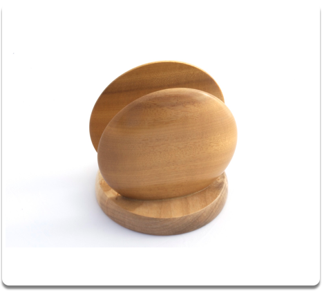 Myrtlewood Round Napkin Holder