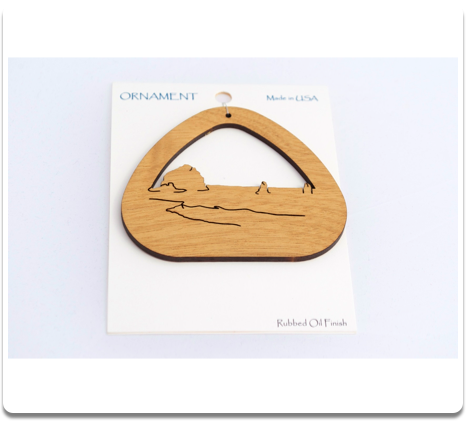 Haystack Rock Ornament