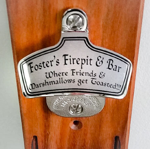 Firepit bottle opener
