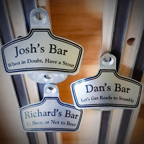 three personalized bottle opener gifts