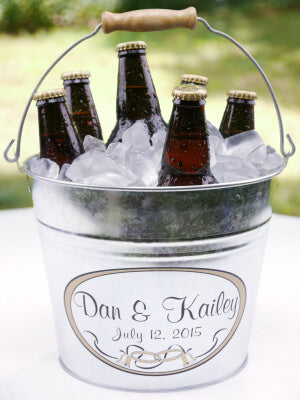 wedding bucket of beers