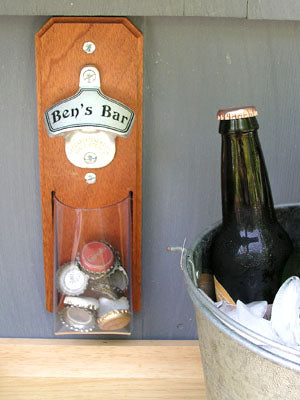 Bottle opener for back porch