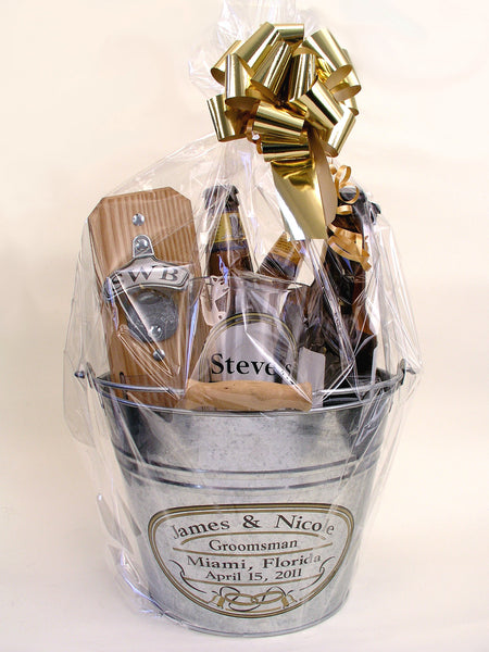 Personalized Gift Basket with Clear Pouch Capcatcher