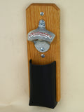 Budweiser Capcatcher Bottle Opener with leather pouch