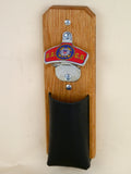 US Coast Guard Capcatcher Bottle Opener with leather pouch