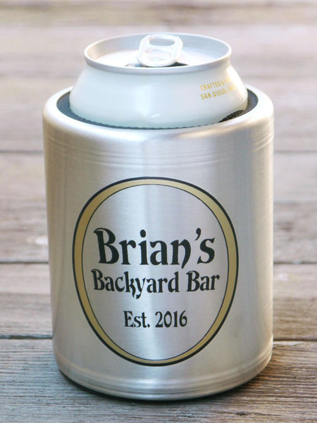 Personalized Stainless Steel Can Cooler