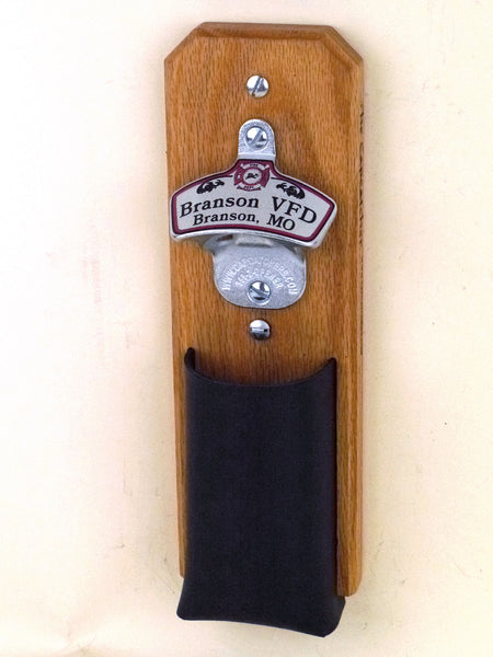 Personalized Fire Department Wall Bottle Opener