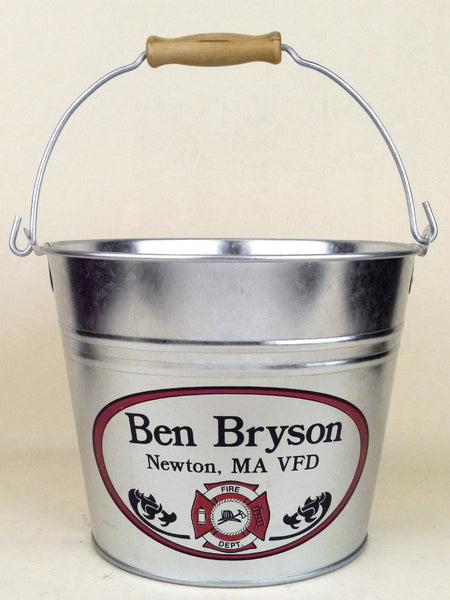 Personalized Fire Dept Beer Bucket