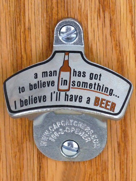 Novelty Wall-Mount Bottle Opener