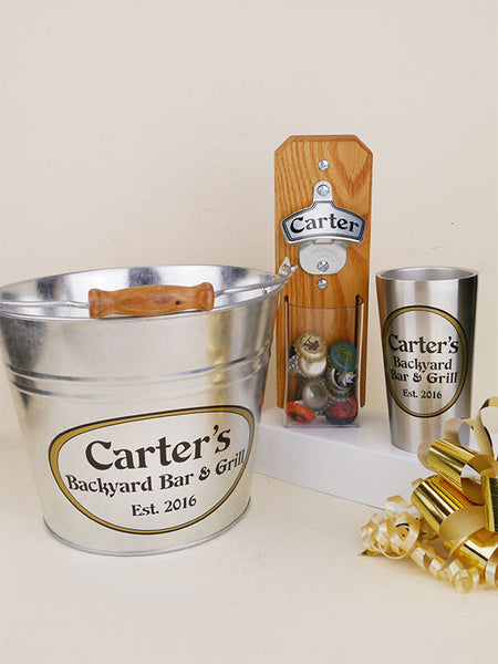 & Personalized Beer-Lover Gift Basket with Capcatcher