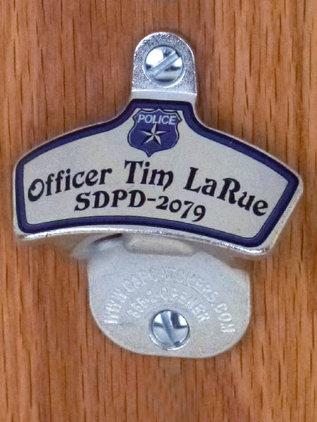 Custom Police Dept Wall-Mounted Bottle Opener