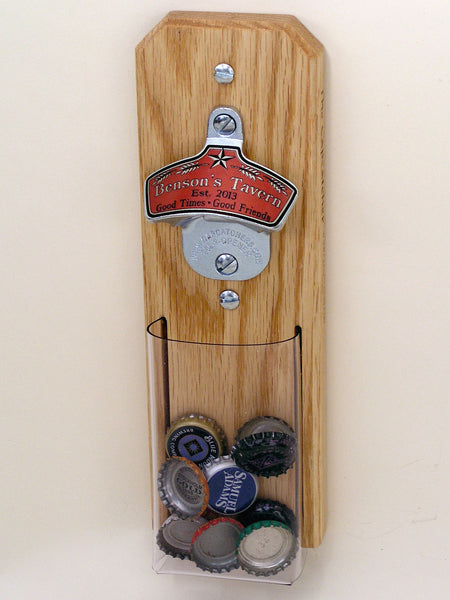 Personalized Capcatcher Bottle Opener with Tavern Look