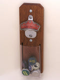 personalized bottle cap catcher for home bars