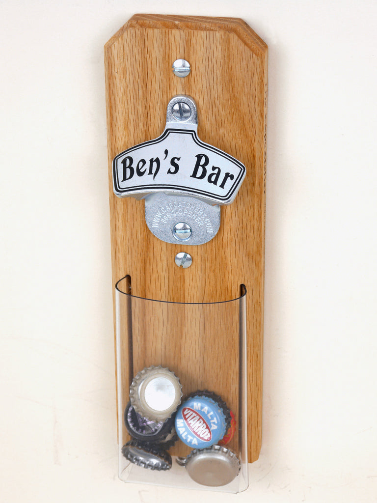 personalized magnetic capcatcher bottle opener