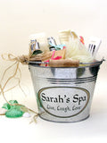 example of personalized spa pail gift idea