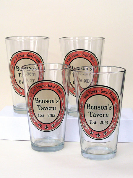 Personalized Tavern Pint Glass Set