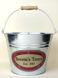 Personalized Beer Bucket with Tavern look