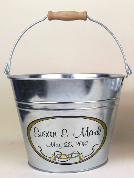 custom wedding bucket or basket