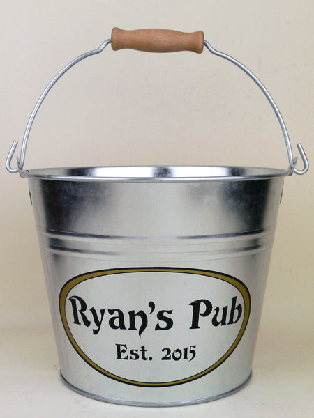 custom metal bucket