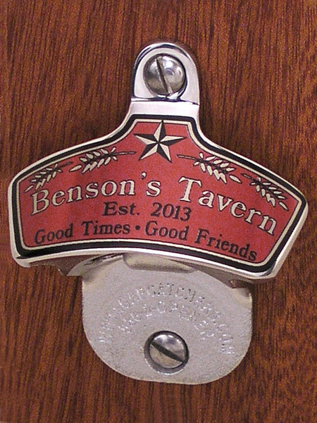 Custom Tavern Wall Bottle Opener