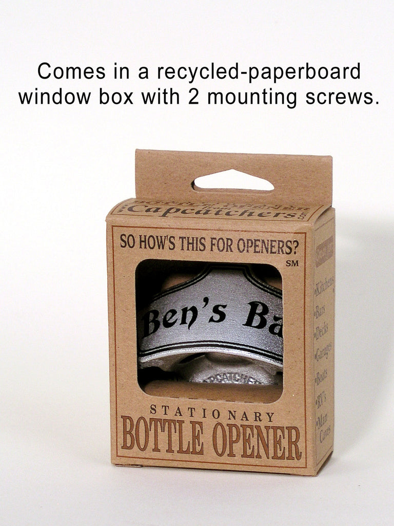 Custom Wall-Mounted Bottle Opener · Eco-Friendly packaging with mounting screws