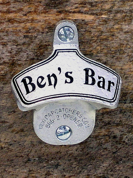 Personalized Wall-Mount Bottle Opener