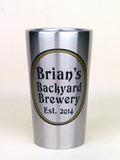 custom steel pint cup