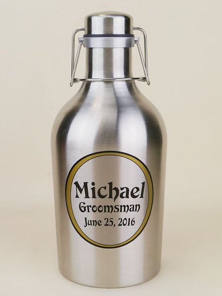 Personalized 64oz Stainless Steel Growler