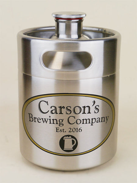 Personalized 64oz Stainless Steel Mini Keg