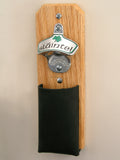 Irish Capcatcher Bottle Opener with leather pouch