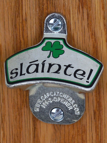 Irish Wall-Mount Bottle Opener