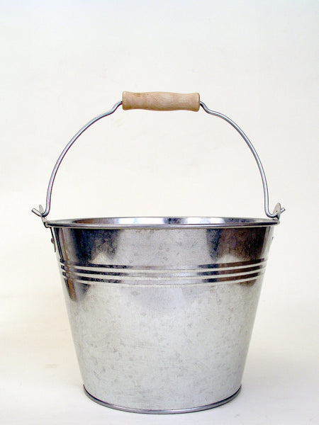 Plain Galvanized Metal Pail
