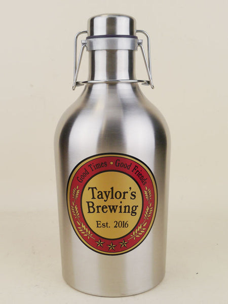 Custom Tavern 64oz Stainless Steel Growler