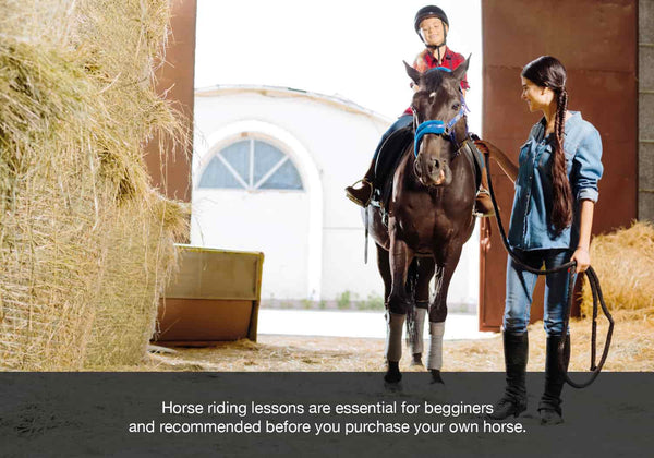 Riding lessons are an essential step in owning your first horse
