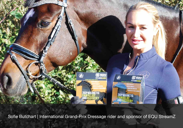 Sofie Butchart offers 12 tips for young dressage riders on their rise to the top. EQU Streamz advanced magnetic bands sponsored rider.