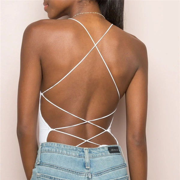 Bandage Backless Sexy Bodysuit - EuphoriaStar