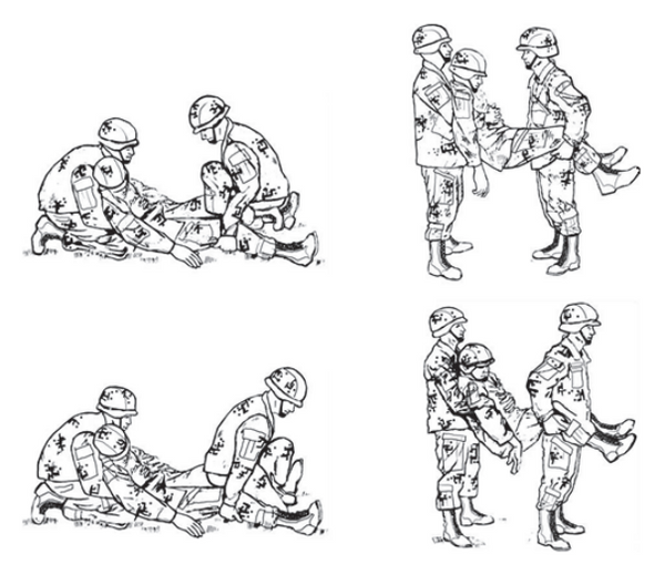 Figure 1-10. Two-man fore-and-aft carry
