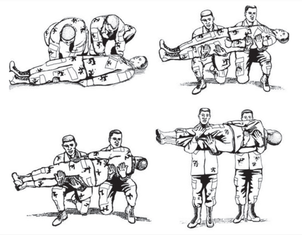 Figure 1-9. Two-man arms carry