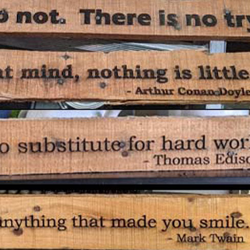 Wooden Quote Signs