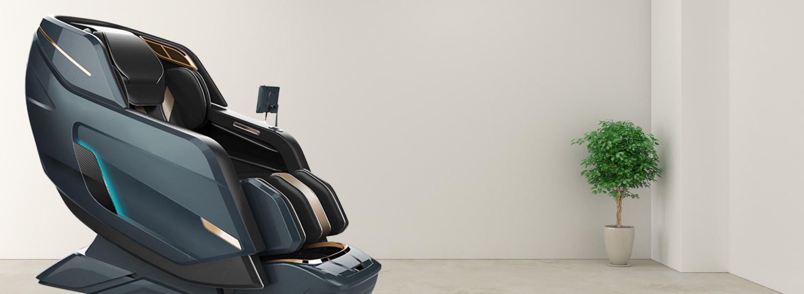 """A Breakthrough in Robotic Massage Technology Not only create a sense of relaxation, comfort but also relieve tension. In today's technology, massage chairs also apply special techniques such as punching, pressing, kneading, flapping, pushing, pulling, stretching, help visibly improve blood circulation and health. Especially, with Floridian 4D Massage Expert Chair, applying """"4D Air Compression Massage Mechanism"""" technology with 11 automatic massage exercises and the ability to accurately detect acupuncture points."""