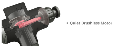 Lightning Percussion Technology™ & Quiet Brushless Motor: The 24V high torque brushless motor delivers exceptional power, with 30 adjustable speed settings, you can customize the vigor of your massage up to 3600 percussions per minute (1100-3600 PPM) and no more than 45 decibels (20 - 45 noise level) to get the exact treatment your body needs.