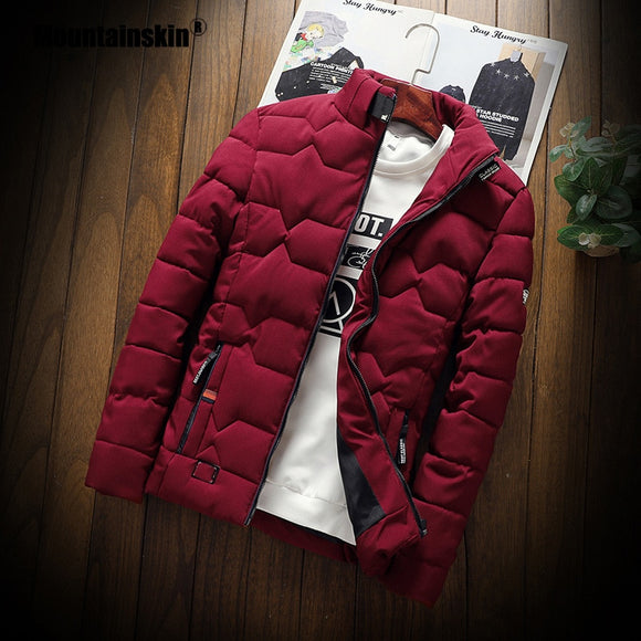 Mountainskin Winter Men Jacket 2020 Men's New Casual Thicken Warm Cotton Jacket Slim Clothes Youth Soild Jacket Men's Wear SA743