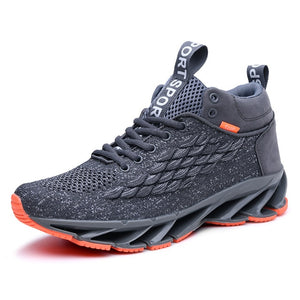 Mesh Sneakers Men Lace-up Blade Sport Shoes Winter Men's Blade Running Shoes Man High Red Sports Shoe Lightweight Trainers B16