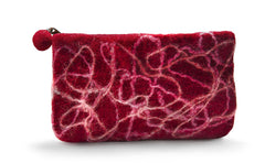 Felt Wallet- Red Squiggly