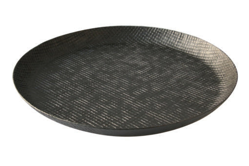 Excellent Black Crosshatch Aluminum Curved Edge Tray Large Gmtry Best Dining Table And Chair Ideas Images Gmtryco