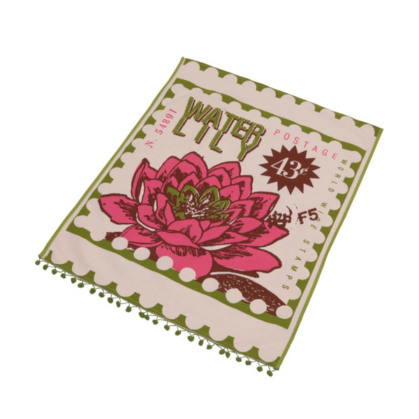 Postage tea towel- Water lily
